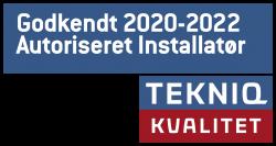 Tekniq Kvalitetskontrol 2020 - 2022, godkendt autoriseret vvs-installatør