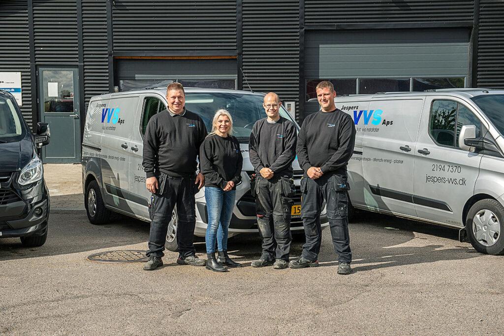 Medarbejdere hos Jespers VVS Aps i Kalundborg