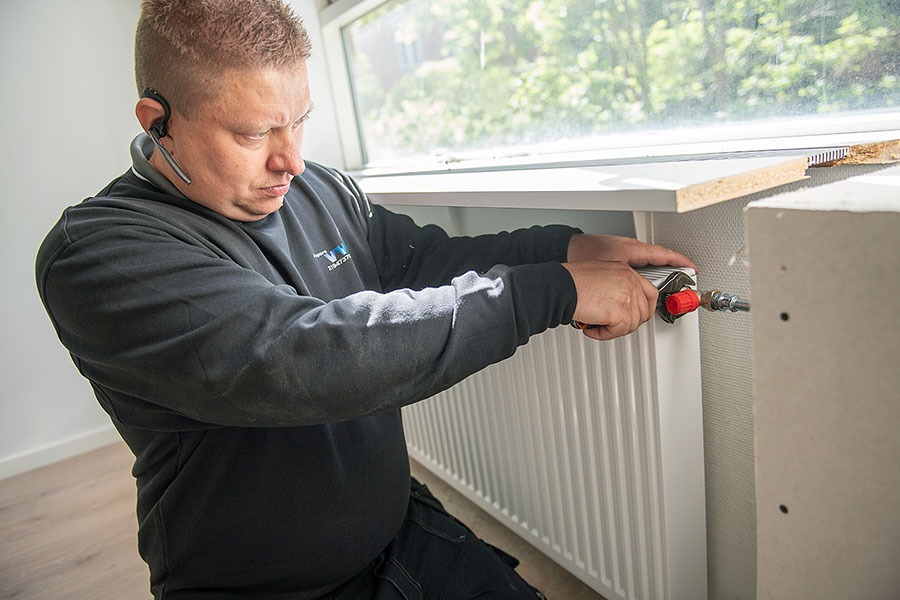 tjek af radiator vvs opgave